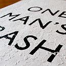 'One Man's Trash' Woodchip Print