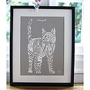 Typographic Cat Print