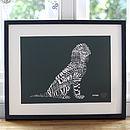 Typographic Spaniel Dog Print