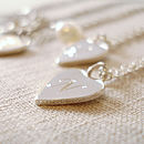 Personalised Silver Tiny Love Heart Necklace