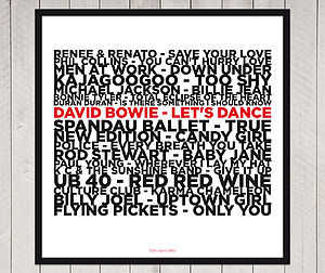 Personalised Number One Song Print - music-lover