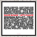 Personalised Number One Song Print