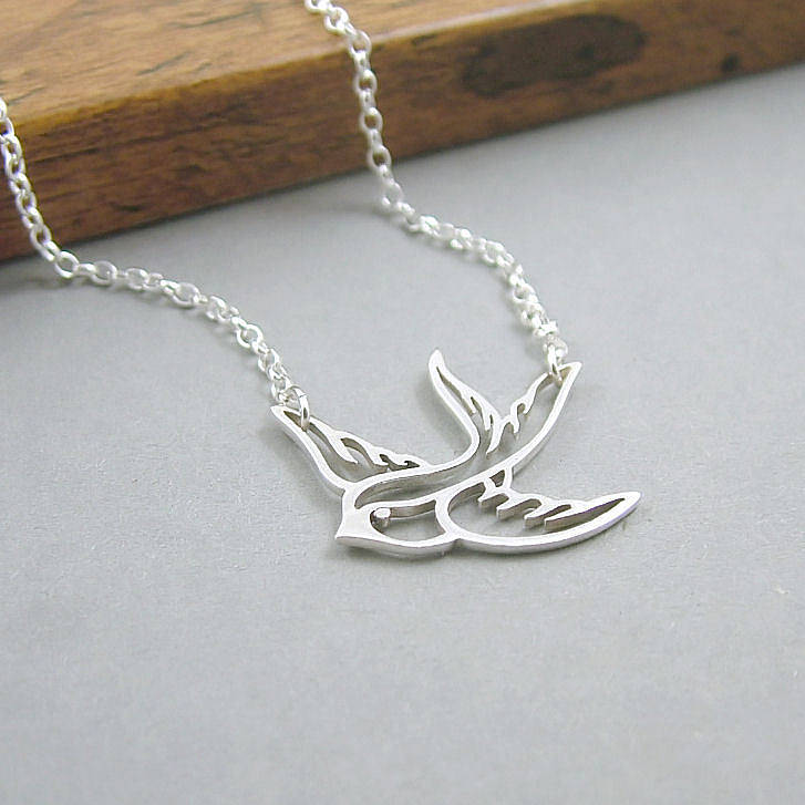 Sterling Silver Swallow Necklace