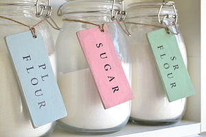 Personalised Storage Tags - kitchen