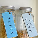 Personalised Storage Tags