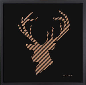 Laser Cut Stag's Heid Paper Artwork