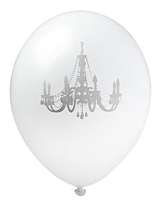 White & Silver Chandelier Balloon - bunting & garlands