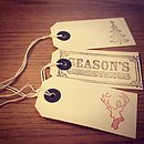 Hand Stamped Christmas Tags