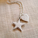 Personalised Star And Heart Necklace