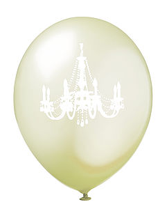 Ivory & White Chandelier Balloons
