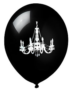 Black & White Chandelier Balloons - living & decorating