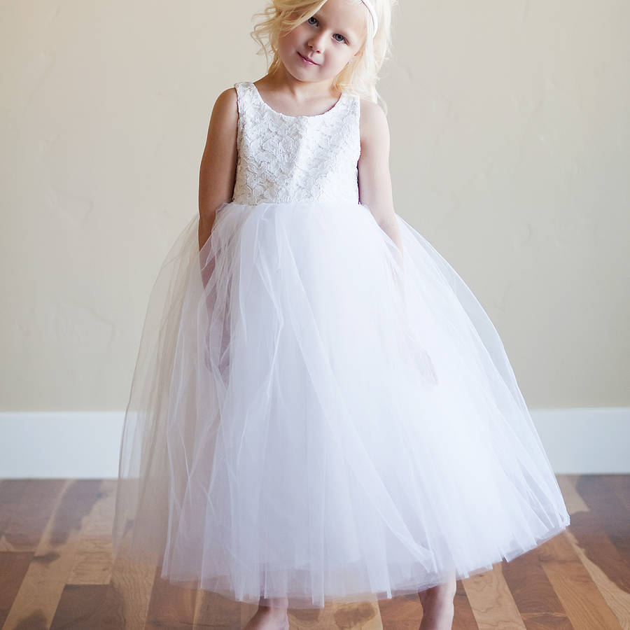 Lace flower girl dress by gilly gray notonthehighstreet lace flower girl dress ombrellifo Image collections