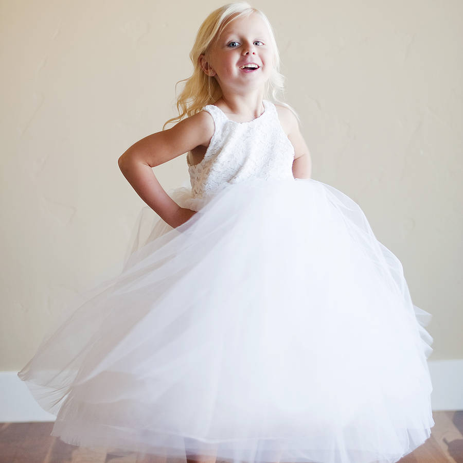 flower girl dress lace - photo #27