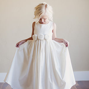 Rosette Flower Girl Dress - flower girl fashion