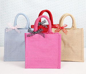 Jute Bag - ribbon & wrap