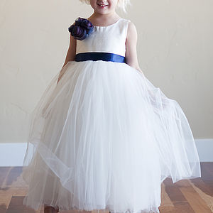 Silk Flower Girl Dress - bridesmaid dresses