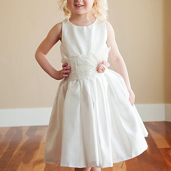 Cotton And Lace Flower Girl Dress