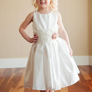 Cotton And Lace Flower Girl Dress - wedding and party outfits