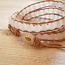 Precious Stone Wrap Bracelet