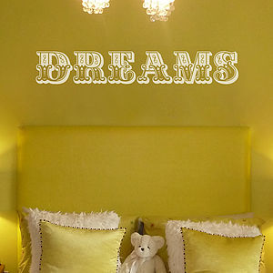 'Dreams' Wall Sticker