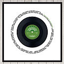 celebration record label 2 in green