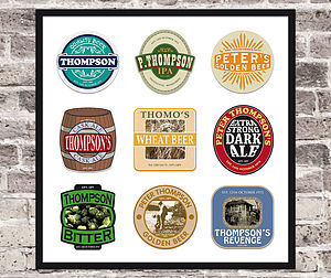 Personalised Beer Mat Print