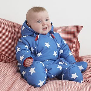 Boys Snowsuit With Detachable Mitts - clothing