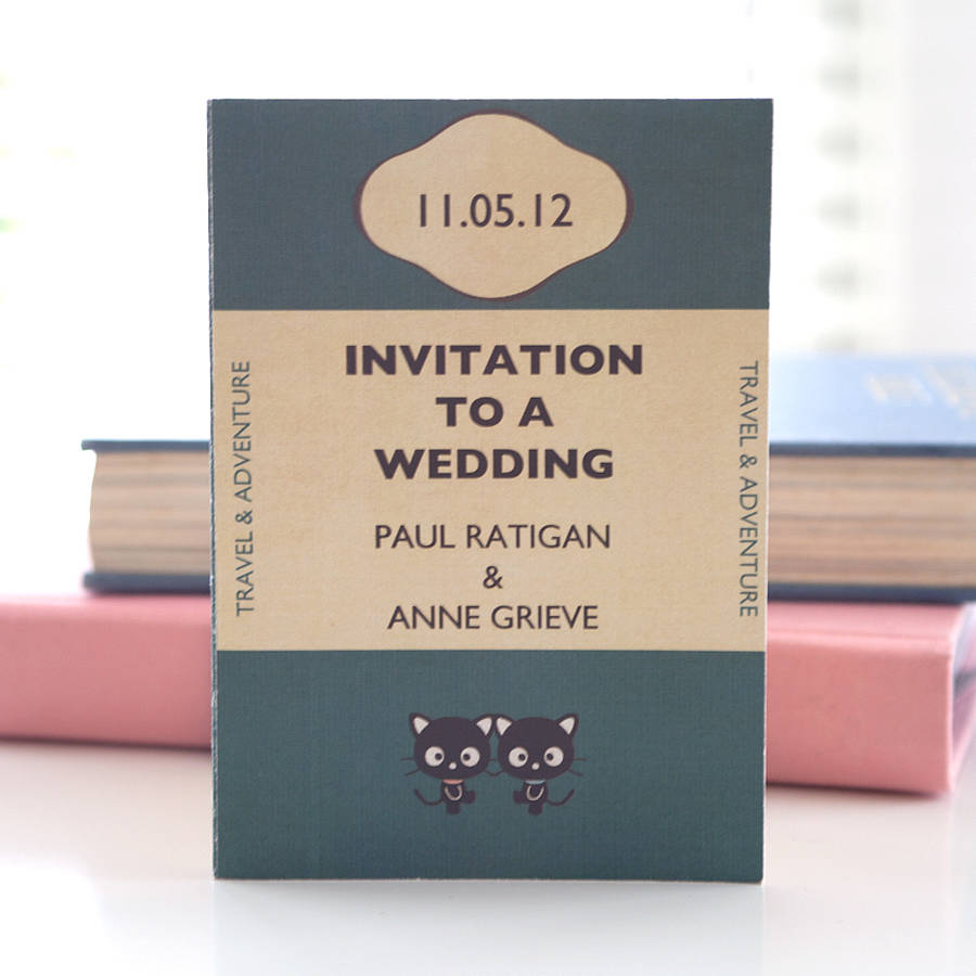Vintage Book Cover Invitations ~ Vintage book inspired wedding invitation by e y i love