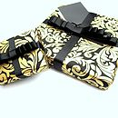 gift wrap black and gold