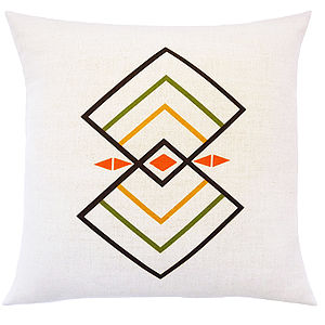 Rhombus Cushion - patterned cushions