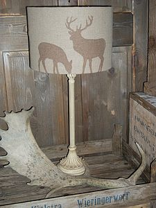 Stag And Deer Pure Irish Linen Lampshade