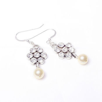 Vintage Style Flower Earrings