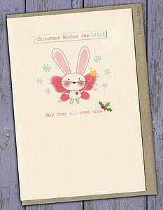 Personalised Christmas Card For Girls - cards & wrap