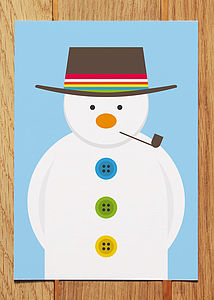 Snowman Christmas Card - cards & wrap