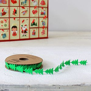 Christmas Tree Ribbon - cards & wrap