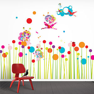 Perfect Flower Fairies Wall Stickers Part 23