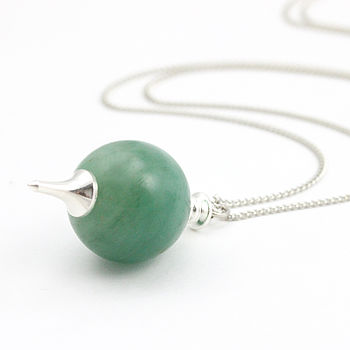 Iva Gemstone Orb Necklace