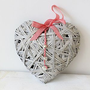 Large Woven Heart - decorative accessories