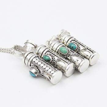 Dahlia Silver Wish Box Necklace