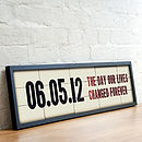 Personalised Special Date Cinema Sign Print