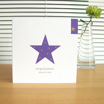 'congratulations' card