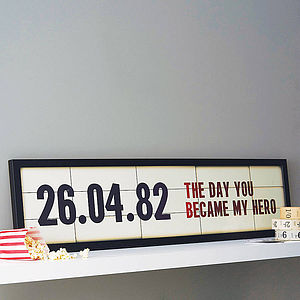 Personalised Special Date Cinema Sign Print - shop by recipient