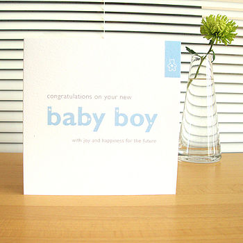 'new baby boy' card