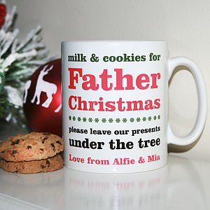 Personalised Mug For Father Christmas - extraordinary table decorations