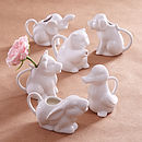 Thumb animal shaped milk jugs