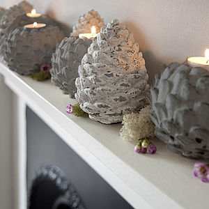 Limed Artichoke Tealight Or Spruce Cone - lighting