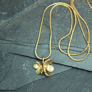 Gold Cherry Blossom Necklace