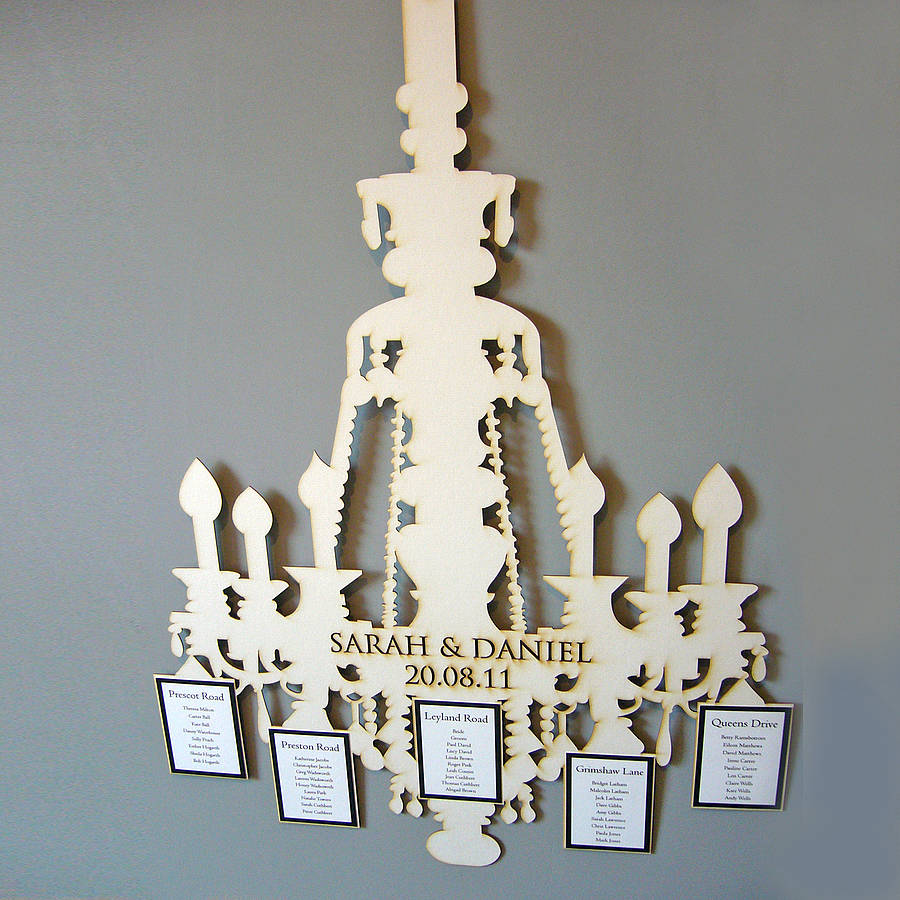 Lasercut Chandelier Table Plan By Paperbird Design