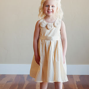 Cotton Flower Girl Dress