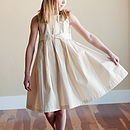 Girl's Cotton And Silk Dress